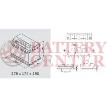 Μπαταρία Αυτοκινήτου YUASA YBX3096 12V 76Ah 680A Yuasa SMF Battery