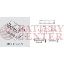 Μπαταρία Αυτοκινήτου YUASA YBX3110 12V 80Ah 720A Yuasa SMF Battery