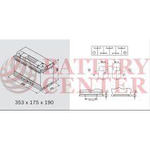Varta LFD90 Marine-Leizure Professional Dual Purpose 12V 90Ah (C20) RC174Min MCA1000A  800EN A Εκκίνησης