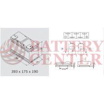 Μπαταρία Αυτοκινήτου Omnitech Batteries High Performance L6 AGM 105 Start Stop 12V  Capacity 20hr 105(Ah):EN (Amps): 950EN Εκκίνησης