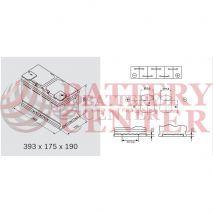 Μπαταρία Exide EL1050 Start Stop EFB Carbon Boost Techonology 12V Capacity 20hr  105(Ah):EN (Amps): 950EN Εκκίνησης