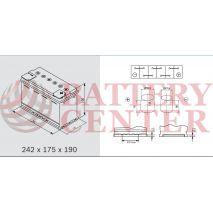 Μπαταρία Exide EP500 Marine & Multifit  Dual AGM 12V Capacity 20hr  60(Ah):EN (Amps): 680EN A Εκκίνησης