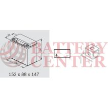Backup & Specialist Batteries Yuasa YBXAX14 Auxiliary 12V 12.6Ah 200EN A Yuasa Auxiliary AGM Battery