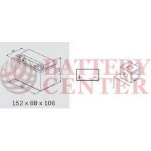 OMNITECH Batteries Auxiliary Equipment 12V Capacity 20hr 9 (Ah):EN (Amps): 165EN Εκκίνησης