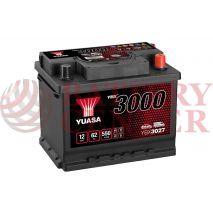 Μπαταρία Αυτοκινήτου YUASA YBX3027 12V 62Ah 550A Yuasa SMF Battery