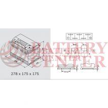Μπαταρία Varta Silver Dynamic E38 12V Capacity 20hr 74 (Ah):EN (Amps): 750EN Εκκίνησης