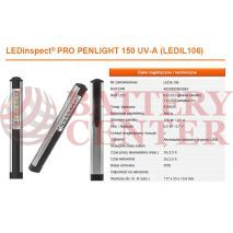 OSRAM LEDIL106 Φακός Εργασίας Επαναφορτιζόμενος Penlight 150 UV-A LedInspect Pro 6.000K