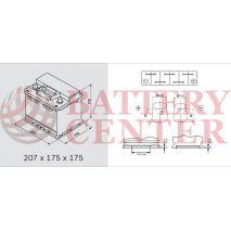 Μπαταρία Varta Black Dynamic A17 12V Capacity 20hr 41(Ah):EN (Amps): 360EN Εκκίνησης