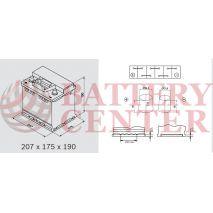 Μπαταρία Varta Black Dynamic B20 12V Capacity 20hr 45 (Ah):EN (Amps): 400EN Εκκίνησης