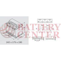 Μπαταρία Varta Black Dynamic C15 12V Capacity 20hr 56(Ah):EN (Amps): 480EN Εκκίνησης