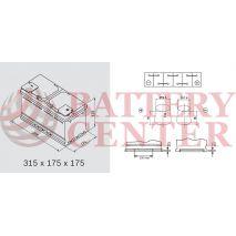 Μπαταρία Varta Blue Dynamic F17 12V Capacity 20hr  80(Ah):EN (Amps): 740EN Εκκίνησης