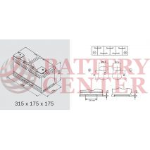 Μπαταρία Exide Excell EB802 12V Capacity 20hr  80(Ah):EN (Amps): 700EN Εκκίνησης