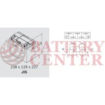 Μπαταρία Exide Excell EB456 12V Capacity 20hr  45 (Ah):EN (Amps): 330EN Εκκίνησης
