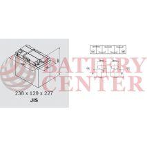 Μπαταρία Exide Excell EB454 12V Capacity 20hr  45 (Ah):EN (Amps): 330EN Εκκίνησης