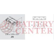 Μπαταρία Exide Excell EB457 12V Capacity 20hr  45 (Ah):EN (Amps): 330EN Εκκίνησης
