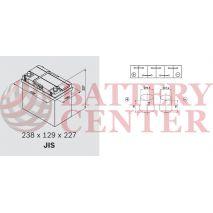 Μπαταρία Exide Excell EB455 12V Capacity 20hr  45 (Ah):EN (Amps): 330EN Εκκίνησης