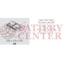 Μπαταρία Exide Excell EB604 12V Capacity 20hr  60(Ah):EN (Amps): 480EN Εκκίνησης