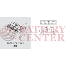 Μπαταρία Exide Excell EB605 12V Capacity 20hr  60(Ah):EN (Amps): 480EN Εκκίνησης