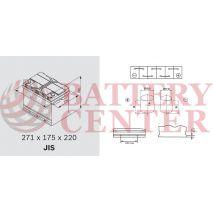 Μπαταρία Exide Excell EB704 12V Capacity 20hr  70(Ah):EN (Amps): 540EN Εκκίνησης