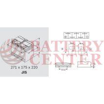 Μπαταρία Exide Excell EB705 12V Capacity 20hr  70(Ah):EN (Amps): 540EN Εκκίνησης