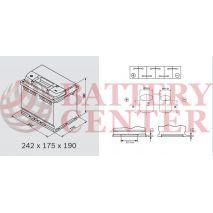 Μπαταρία Varta Silver Dynamic D39 12V Capacity 20hr 63 (Ah):EN (Amps): 610EN Εκκίνησης