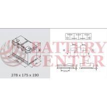 Μπαταρία Αυτοκινήτου YUASA YBX1096 12V 70Ah 640A EN Yuasa SMF Battery