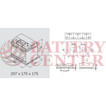 Μπαταρία Banner Power Bull PROfessional P5042 12V Capacity 20hr 50(Ah):EN (Amps): 400EN Εκκίνησης