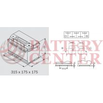 Μπαταρία Banner Running Bull 57512 EFB Start Stop 12V Capacity 20hr  75(Ah) EN (Amps) 730EN Εκκίνησης