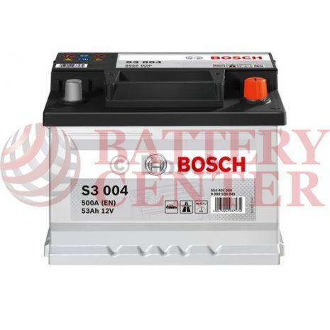 Μπαταρία Bosch  S3004 12V Capacity 20hr 53 (Ah):EN (Amps): 500EN Εκκίνησης