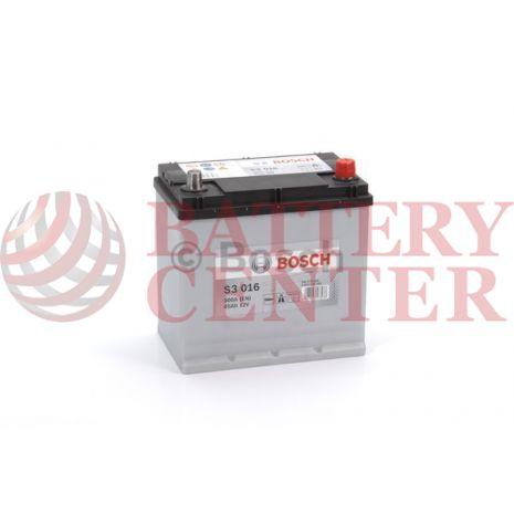 Μπαταρία Bosch  S3016 12V Capacity 20hr 45 (Ah):EN (Amps): 300EN Εκκίνησης