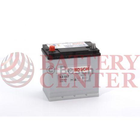 Μπαταρία Bosch  S3017 12V Capacity 20hr 45 (Ah):EN (Amps): 300EN Εκκίνησης