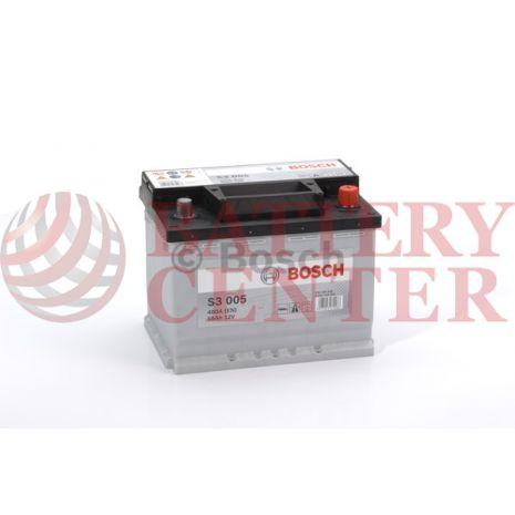 Μπαταρία Bosch  S3005 12V Capacity 20hr 56 (Ah):EN (Amps): 480EN Εκκίνησης