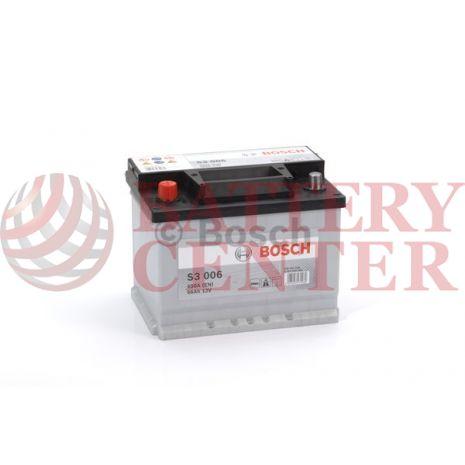 Μπαταρία Bosch  S3006 12V Capacity 20hr 56 (Ah):EN (Amps): 480EN Εκκίνησης