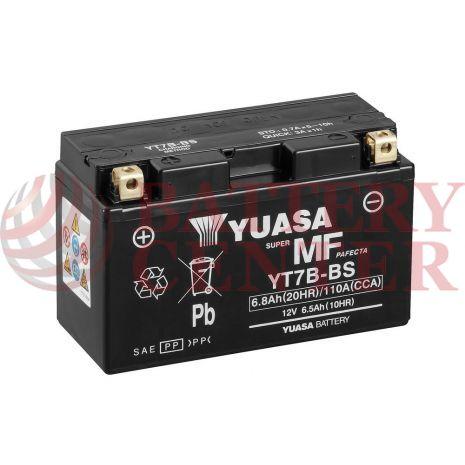 Μπαταρία Yuasa YT7B-BS 12V MF Battery Capacity 20hr 6.8 (Ah):EN1 (Amps): 110CCA