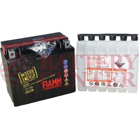 Μπαταρία Fiamm AGM Motor Energy FTX12-BS 12V Battery Capacity 10hr  (Ah):EN 10 (Amps): 180CCA