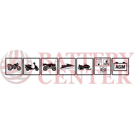 Μπαταρία Μοτοσυκλέτας BS-BATTERY  BT14B-BS  MF 12.6AH  185EN Αντιστοιχία YT14B-BS