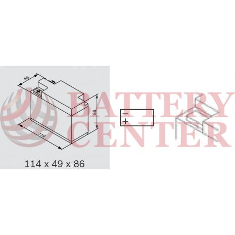 Μπαταρία Μοτοσυκλέτας BS-BATTERY  BTR4A-BS  MF 2.4AH 45EN Αντιστοιχία YTR4A-BS