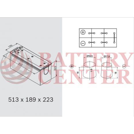 Μπαταρία Bosch T3054 12V Capacity 20hr 154 (Ah):EN (Amps): 1150EN Εκκίνησης