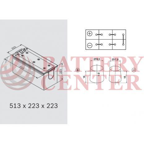 Μπαταρία Banner 69017 Buffalo Bull 12V Capacity 20hr EFB 190 (Ah):EN (Amps): 1050EN Εκκίνησης