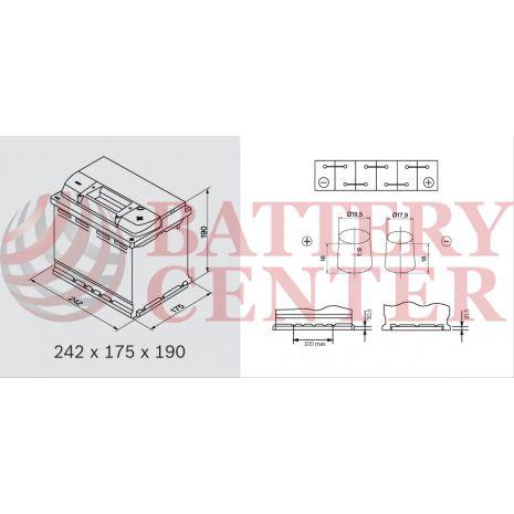 Μπαταρία Banner Starting Bull 56219 12V Capacity 20hr 62(Ah) EN (Amps) 510EN Εκκίνησης