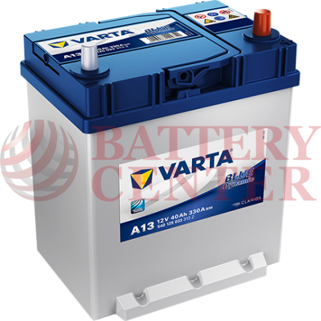 Μπαταρία Varta Blue Dynamic A13 12V Capacity 20hr 40 (Ah):EN (Amps): 330EN Εκκίνησης