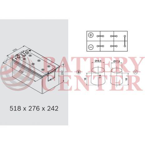 Μπαταρία Banner 74017 Buffalo Bull 12V Capacity 20hr EFB 240 (Ah):EN (Amps): 1200EN Εκκίνησης