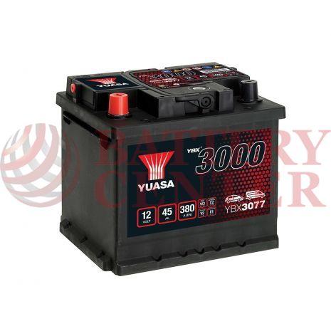 Μπαταρία Αυτοκινήτου YUASA YBX3077 12V 45Ah 380A Yuasa SMF Battery
