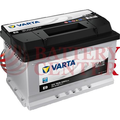 Μπαταρία Varta Black Dynamic E9 12V Capacity 20hr 70(Ah):EN (Amps): 640EN Εκκίνησης